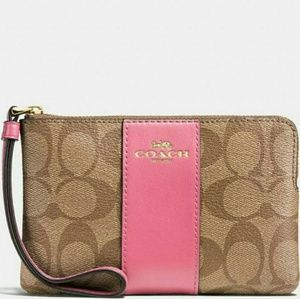 💖NEW WITH TAGS●COACH Zip Wristlet💖💜💖